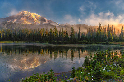 Reflecting on Mt. Rainier