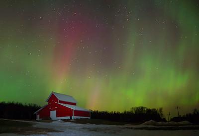 Aurora Over Local Farm
