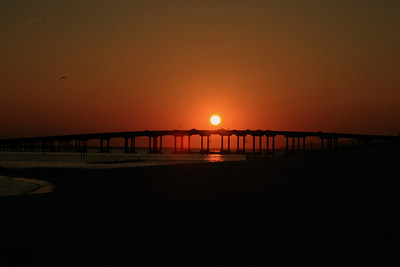 """Sunset Over the Destin Bridge"""