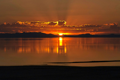 Antelope Island, Utah  Sunset Summer 2013
