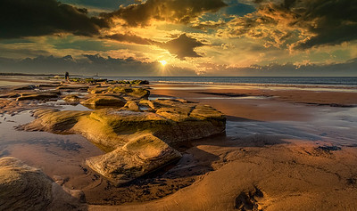 Gold on Whitley Bay Beach