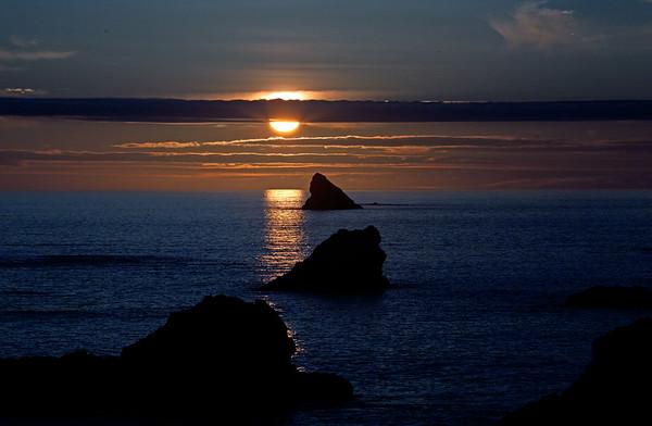 Sunset, Harris Beach, Brookings Oregon
