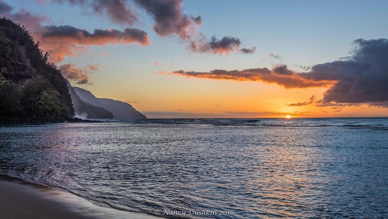 Sunset - Ke'e Beach, Kauai