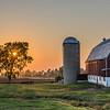 KM fox river 15 - Calumet County Sun Setting on Wisconsin Barn