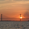 SIdney Lanier Bridge Sunset from the Lady Jane FLETC Shark Fishing Trip 07-22-16