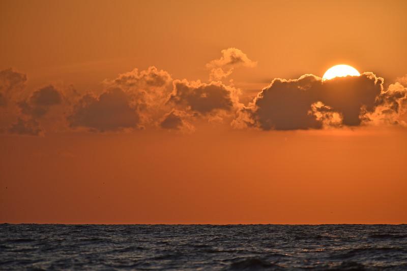 Sunrise offshore Jekyll Island, Georgia 05-16-15