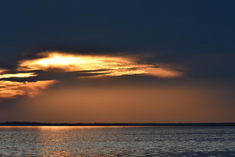 Sunset near Jekyll Island, Georgia 11-25-17