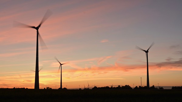 Sunset Windmills