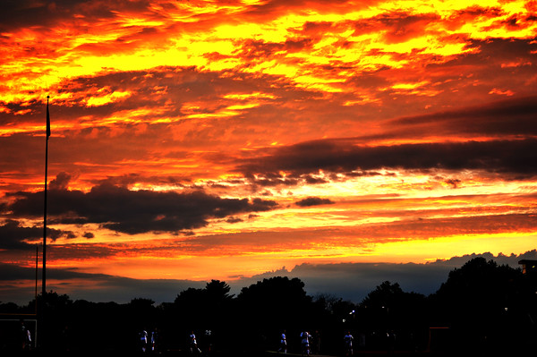 Sunset at Bethel Park High School  October 12th 2015