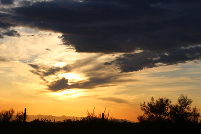 Sunset at Superstition Mountain Apache Junction Az