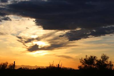 Sunset at Superstition Mountain Apache Junction Az
