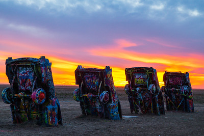 Sunset Zig-Zag at Cadillac Ranch