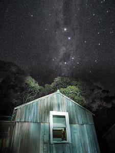 Stars in Mount Field, Tasmania