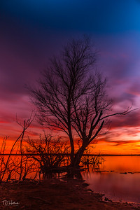 The last of sunset at Lake Grapevine