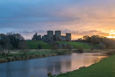 Sunrise over Rhuddlan Castle