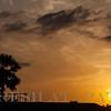 Sunset at  Passikudah beach