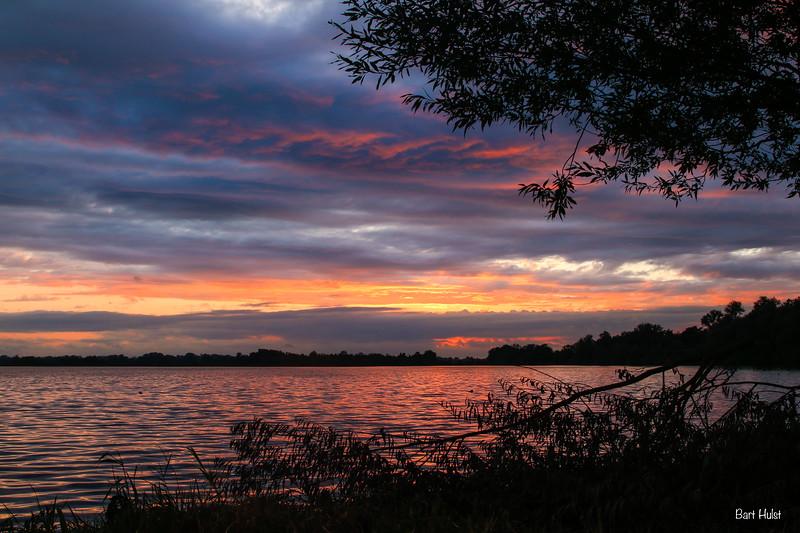 Sunset in Loosdrecht, Netherlands