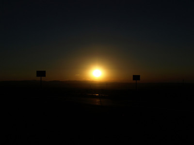 Sunset. Driving to Salt Lake City, Utah from SF Bay Area.