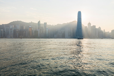 Two International Finance Centre (Right). Victoria Harbour - Hong Kong, China S.A.R. (香港特区)