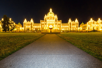 British Columbia Legislature Building. Downtown Victoria, BC, Canada