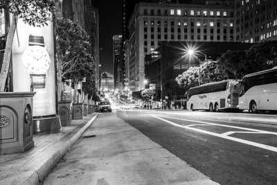 California Street and Kearny Street Intersection. San Francisco, CA, USA
