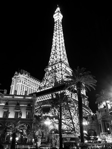 Eiffel Tower Replica at Paris Las Vegas. Shot near Bellagio. South Las Vegas Blvd. Las Vegas, NV, USA