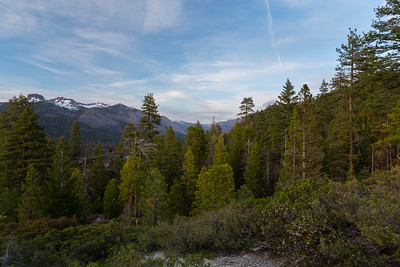 Sunset. The Dardanelles. Donnell Vista. Stanislaus National Forest, CA, USA