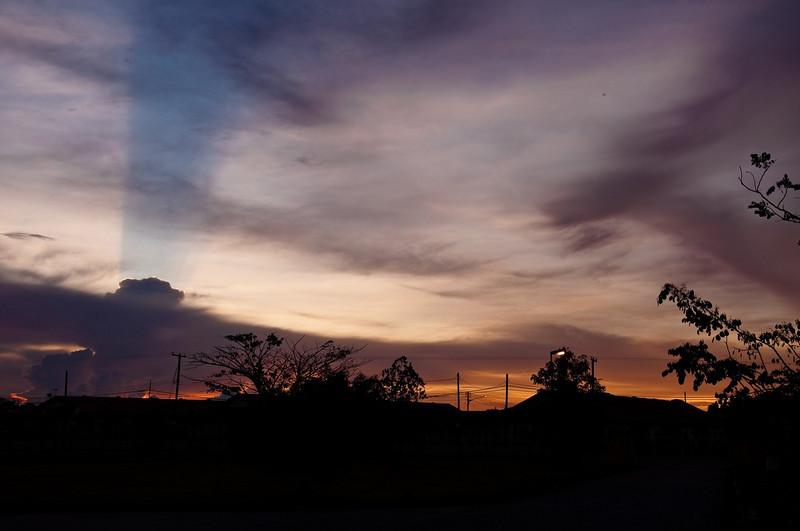 sunset at Kota Samarahan