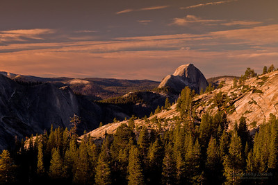 Yosemite National Park landscape at sunrise, Yosemite National Park, CA.