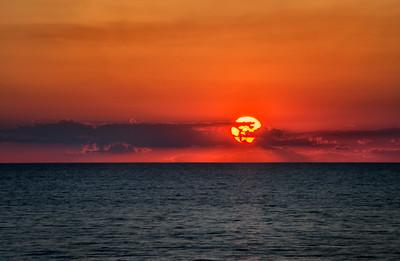 Sunset at Lake Erie Bluffs