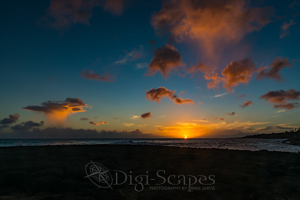 Sunset at Kukuiula Bay