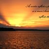 Reflections sunset