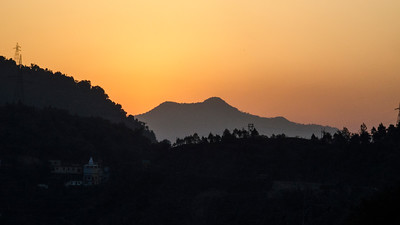 Morning glow in the Hills