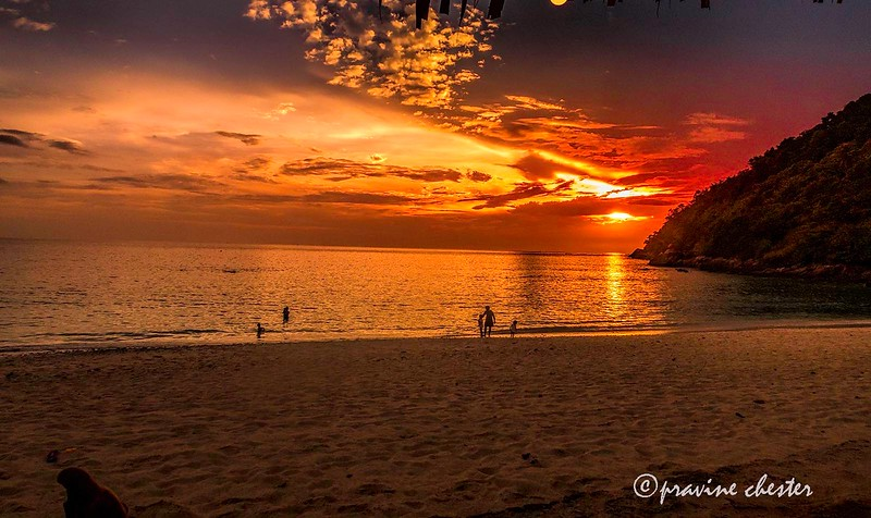Sunset in Merlin Beach