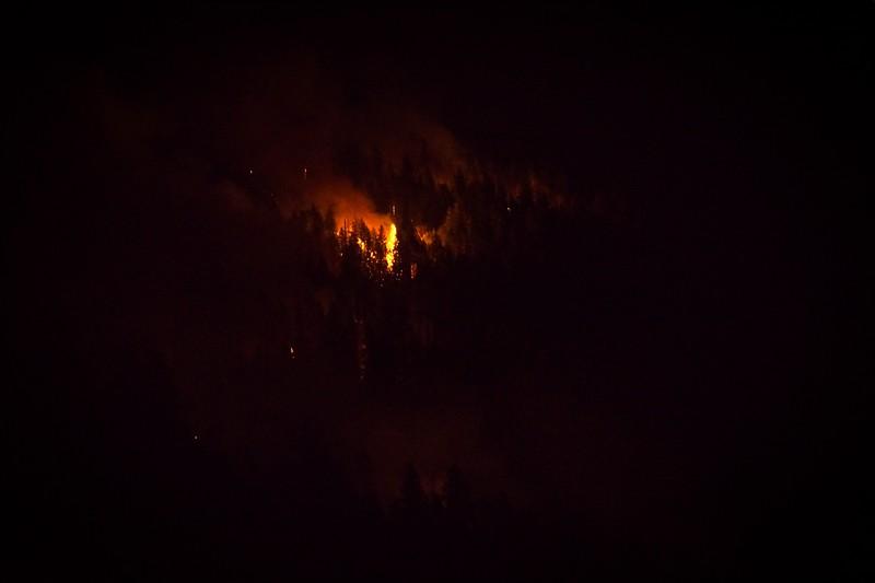 Fire above Syringa
