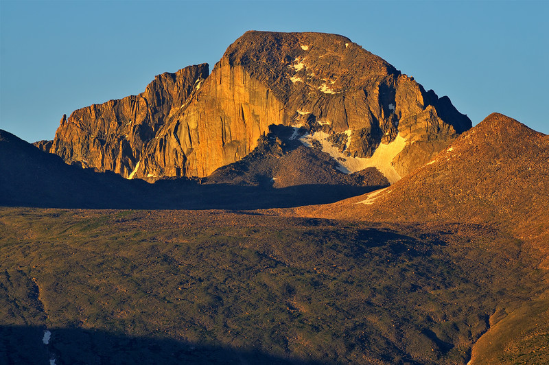 First Light at 14,259 feet (4,346 m)  on Longs Peak