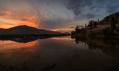 Skaha Pond - Dramatic Skies Panoramic 2020