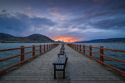 Kiwanis Pier Winter Sunset
