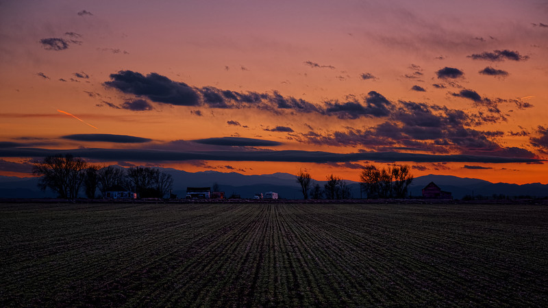 Early Spring Sunset on a Weld Farm