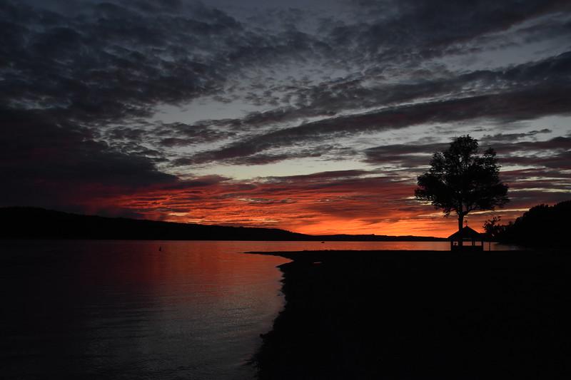 Orange and Blue on the Lake