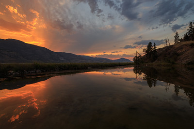 Skaha Pond - Dramatic Skies 2020