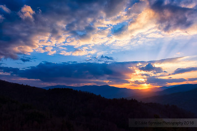 Cataloochee Sunset 3-22-2014