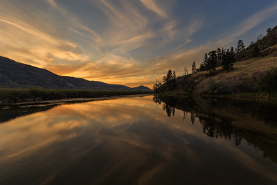 Skaha Pond Golden Hour Reflection 2020