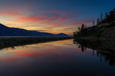 Skaha Pond April Sunset