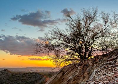 Sunset over Phoenix Arizona.