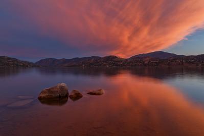 Skaha Lake-Cotton Candy Sunset II