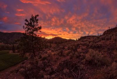 Blue Mountain Ridge - Fire In the Sky Fisheye