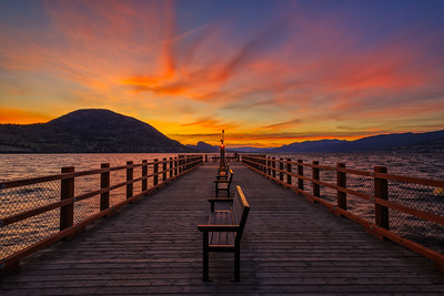Kiwanis Pier Epic Sunset