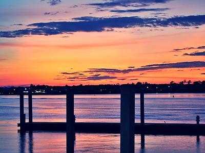 From COBALT the restaurant Orange Beach - overlooking bay & Robinson/Bird Island