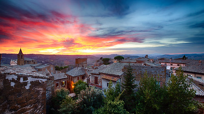 Sunset over Orvieto, Italy